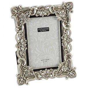 Antique Silver Vintage Ornate Shabby Chic Picture Photo Frame 4