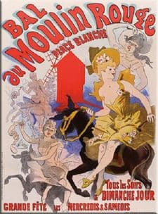 Bal du Moulin Rouge French Art Deco Metal Advertising Wall Sign Plaque