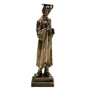 Boy Graduation Figurine - Polished Bronze Finish