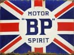 BP Motor Spirit Union Jack Vintage Style Metal Sign Wall Plaque 15X20cm