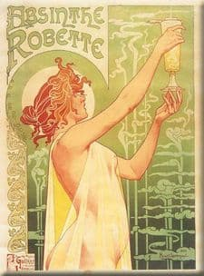 Chic French Absinthe Robette Shabby Metal Sign Plaque