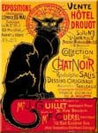 Chic French Black Cat Chat Noir Salis Fun Gift Metal Vintage Sign Plaque