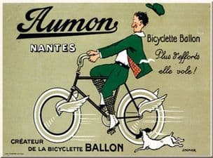 Chic Style French Bicycle Aumon Shabby Metal Sign