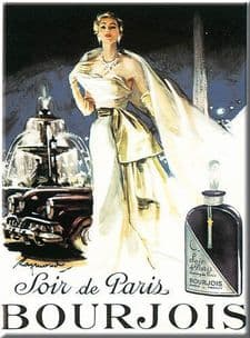Chic Style French Bourjois Paris Shabby Metal Sign
