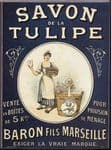 Chic Style French Marseille Savon Tulipe Metal Sign