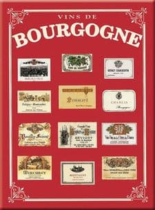 Chic Style French Metal Bourgogne Region Wine Sign