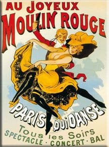Chic Style French Moulin Rouge Dance Paris Metal Sign