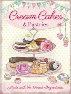 Cream Cakes Cupcakes Pastries Tea Room Gift Metal Sign Wall Plaque