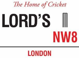 Lords Cricket London Vintage Style  Metal Steel Street Sign Plaque 15 x 20 cm