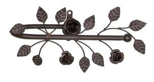 One Curtain Holder Tie Back French Shabby Chic Style Flower Leaf Design Brown