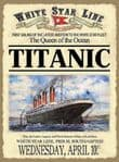 RMS Titanic British Ship Boat White Star Vintage Metal Sign Steel Plaque
