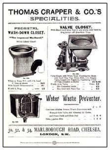 Thomas Crapper Toilet WC Traditional Vintage Metal Wall Sign Plaque