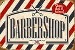 Vintage Style Metal Sign Wall Plaque Barber Shop 30x40cm