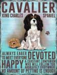 Vintage Style Metal Wall Kitchen Sign Retro King Charles Spaniel Dog Lovers Gift