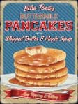 VINTAGE STYLE RETRO METAL WALL SIGN TIN PLAQUE AMERICAN PANCAKES DECOR KITCHEN