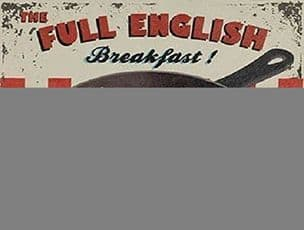 Wiscombe Full English Breakfast Kitchen Food Cafe Metal Steel Sign Plaque Gift
